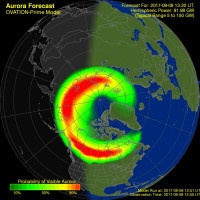 Auroraforecastnorthernhemisphere